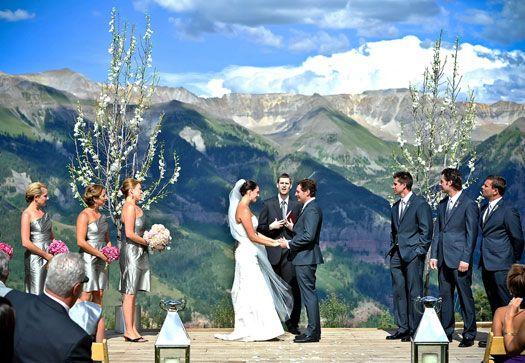 San Sophia Overlook Telluride Co Mountain Weddings Pinterest