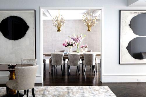 like this art: Dining Rooms, Interior Design, Dining Area, 64 Rooms, Dinning Rooms, Design Dining Room, Interiors Dining, Halpern Interior