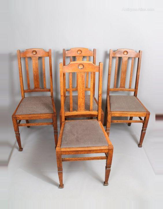 Petter Oak Dining Chairs, Arts & Crafts Furniture