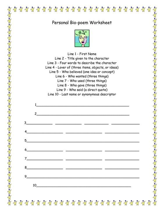 Bio Poem Template for Kids Bio Poem Template Templates Collection ...