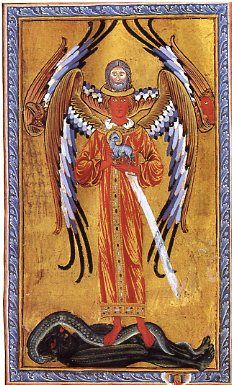 St. Hildegard of Bingen Illumination of St. Michael