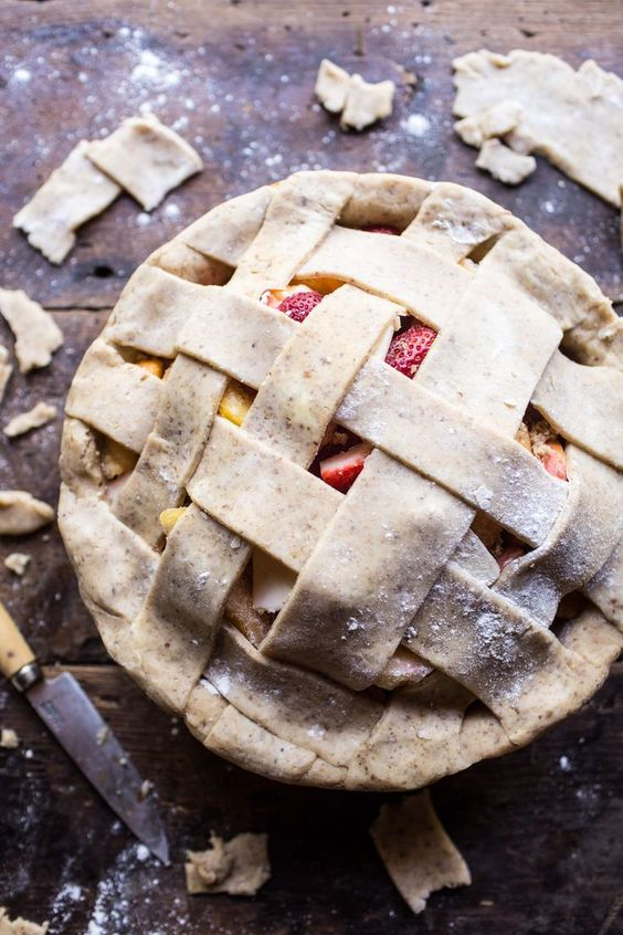Honey Strawberry Peach Pie   halfbakedharvest.com @Half Baked Harvest
