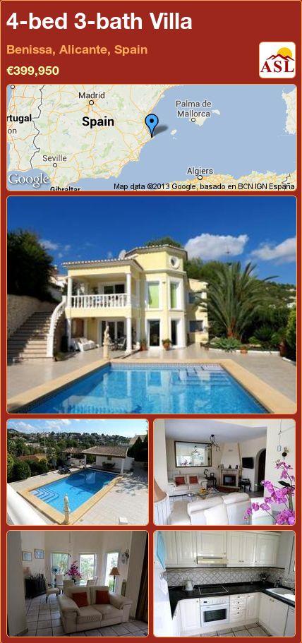 4-bed 3-bath Villa in Benissa, Alicante, Spain ►€399,950 #PropertyForSaleInSpain