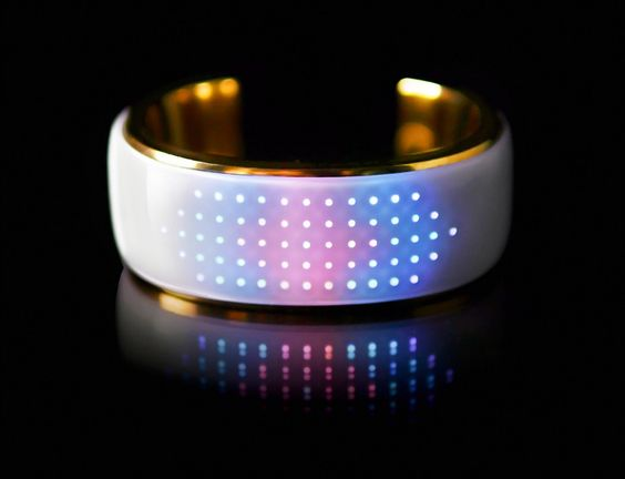 Elemoon changes color to match your outfit, alerts important calls/texts, has step tracking, displays time & helps you find your phone!Customizable jewelry