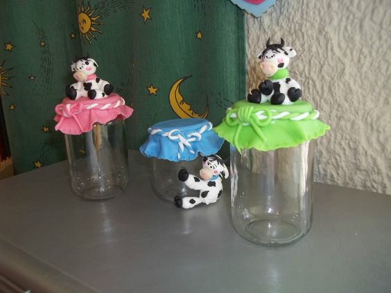 envases de vidrio decorados botellas y potes de cristal