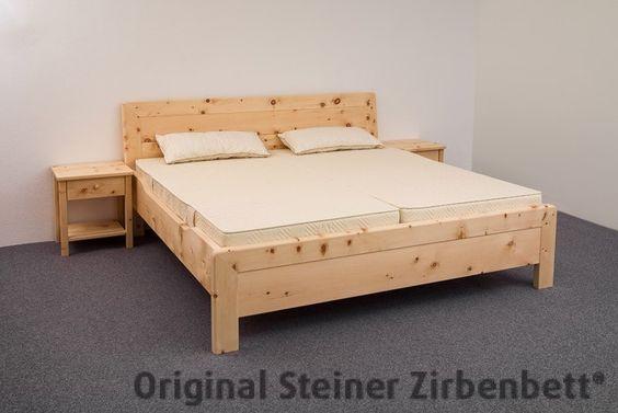 Zirbenbett Kranzhorn - Doppelbett Massivholzbett
