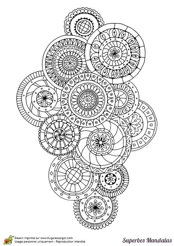 superbes mandalas groupe de cercles: