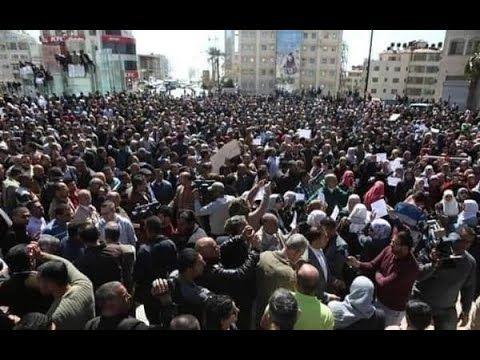 الاردن تيفي لقطات مختلفة من اضراب المعلمين