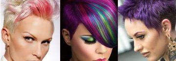 Von langweilig kann hier nicht die Rede sein! Für Frauen mit Mut …, 11 Kurzhaarschnitte mit knalligen Farben!