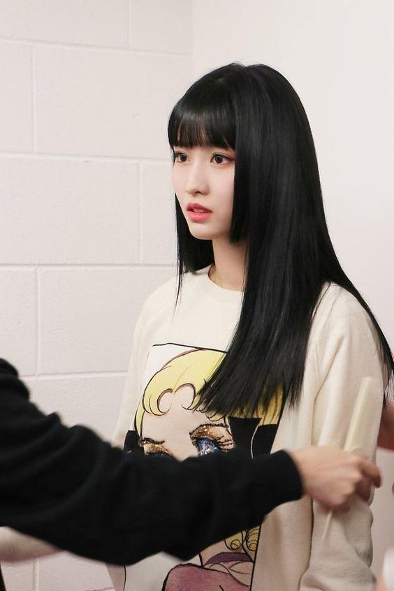 Girl Kpop Idols Hair Girl Kpop Idols Inspiracao Cabelo Cabelo Preto Garotas