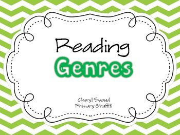 This bright, colorful set of posters includes 18 reading genres.  You'll receive full page posters with and without text. (36 pages)  I provided ha...