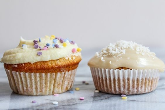 Single Serve Vanilla Cupcake Two Ways -  saucykitchen
