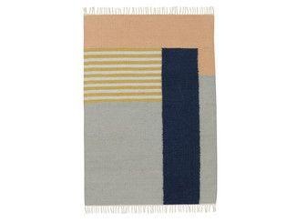 Tappeto in lana a motivi geometrici KELIM WHITE LINES | Tappeto - ferm LIVING