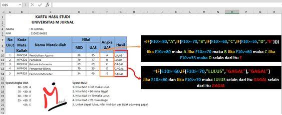 Rumus Excel If Lembar Kerja Belajar Matematika