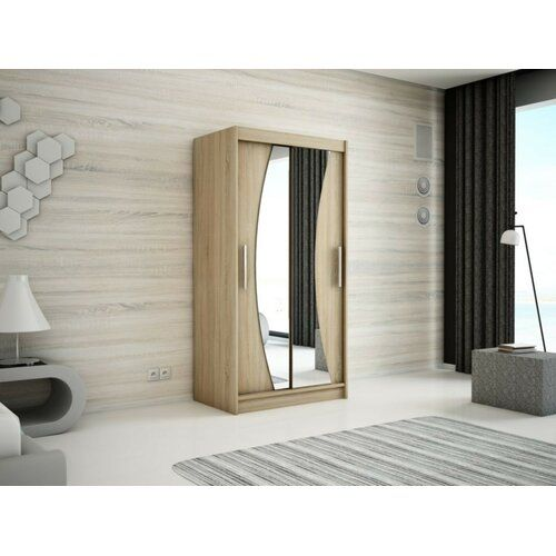 2 Door Swing Door Cabinet In Matt White Ebern Designs Size 200cm H X 100cm W X 62cm D Finish Sonoma Oak In 2020 3 Door Sliding Wardrobe Sliding Wardrobe 2 Door Wardrobe