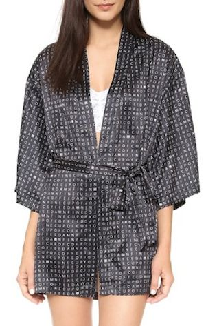 silky crossword puzzle robe
