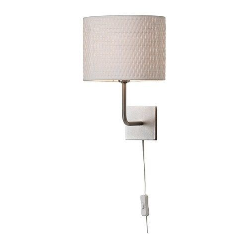 Alang Wall Lamp With Led Bulb Nickel Plated White Lampara De Pared Lamparas De Pared Remodelacion De Dormitorio