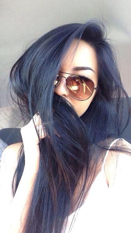 Ashy navy hair: