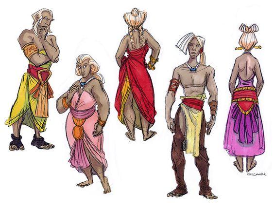 Disney Atlantis Character Design : Original concept art by jean gillmore for the disney
