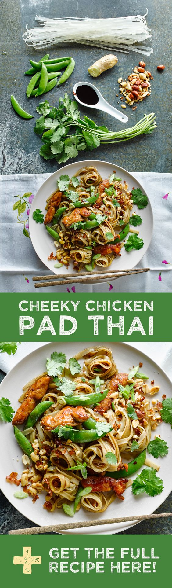 Our version of Pad Thai uses Thai noodles, juicy chicken and sugarsnap peas for sweetness and crunch. Not forgetting one of the key flavours - tamarind. Originally from Africa, tamarind has that sweet and sour flavour we most commonly associate with this popular, much loved dish.  Click to get the Full Recipe and £25 OFF your first order (if you want all the ingredients delivered to your door)!