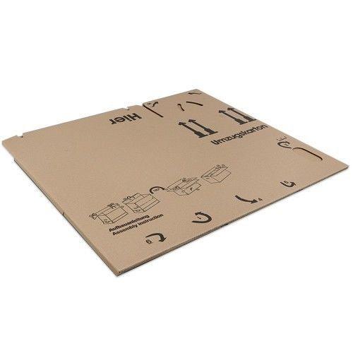 Doppelter Boden und Griffe Umzugskartons Karton 2-WELLIG 40 Kg Movebox top