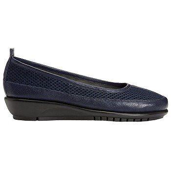 Aerosoles Endurance Shoes (Dark Blue Leather) - Women's Shoes - 10.0 M