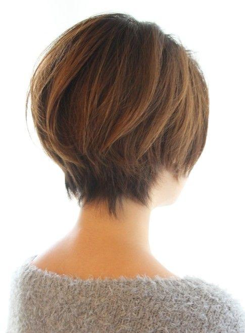 ショートヘア 30代40代50代ひし形耳かけショート Reunaの髪型 ヘア