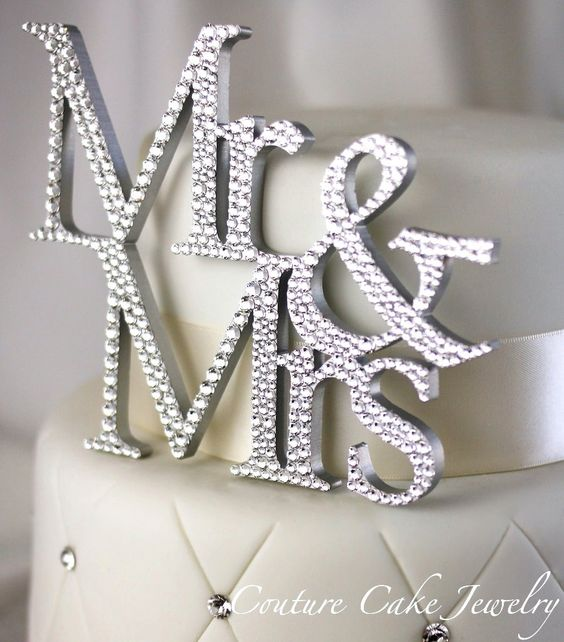 Bling Wedding Decor Sparkling Sweets, Crystal Cake Decor and Rhinestone Cake Toppers: