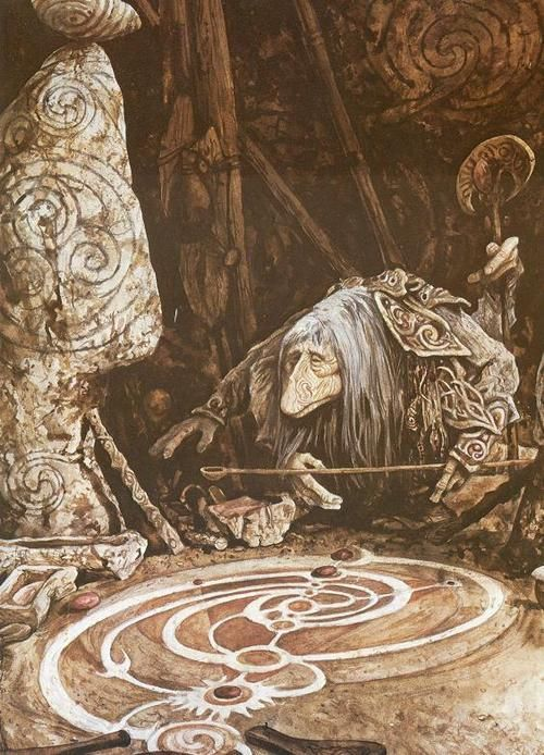 "Brian Froud - The Dark Crystal Suddenly the fact that this guy reminds me of ""Labyrinth"" is makeing sense... he worked for Jim Henson. :)"