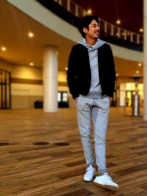 LE JUN イオンモール幕張新都心店 | パーカー「LE JUN フレンチテリーZIPパーカ」を使ったコーディネート  #lejun #ルジュン #style #europeancomfort #parka #sweat #sneaker #usual #care #adidas
