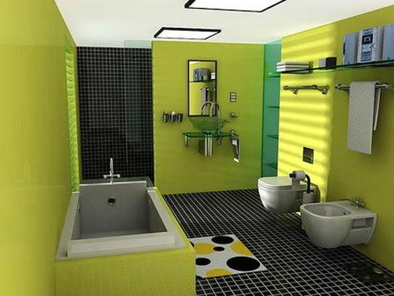Fresh Minimalist And Colorful Bathroom Interior Idea Ideas