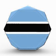 Flag of Botswana Acrylic Award flag, nation, banner, award, gift, acrylic, octagon, country, zazzle, smallbiz, ecommerce, dww25921