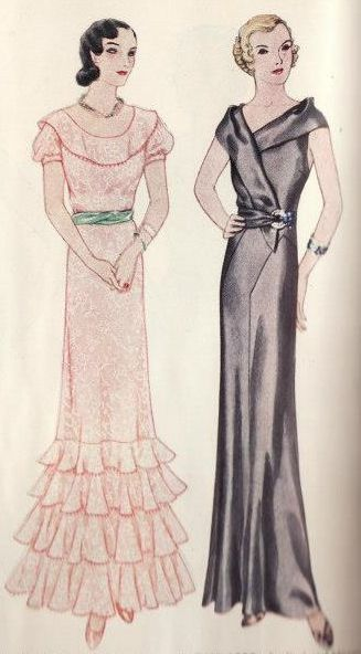McCall 6866 and McCall 6992 (after Patou) | ca. 1932 Evening Dresses