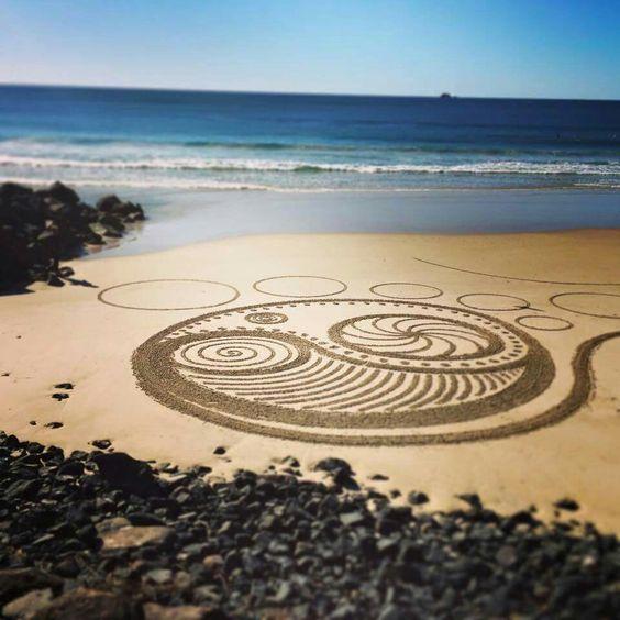 Beach goers in Australia.