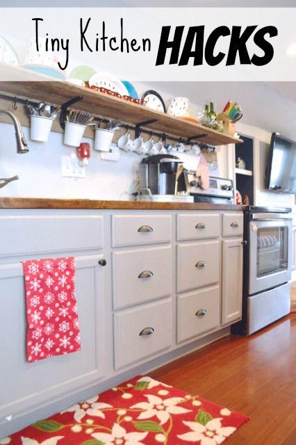 11 Tiny Kitchen Hacks Home Tiny Kitchens And Home Kitchens