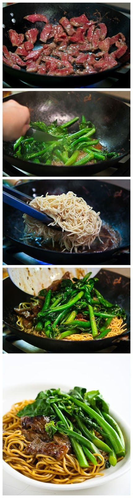 Chinese Broccoli Beef Noodle Stir Fry | Recept | Wok ...