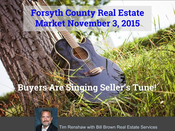 Forsyth County Real Estate Market Update: Nov 3 2015 Demand remains strong! How? Selling in winter a good idea?    #realestate #sellers #buyers
