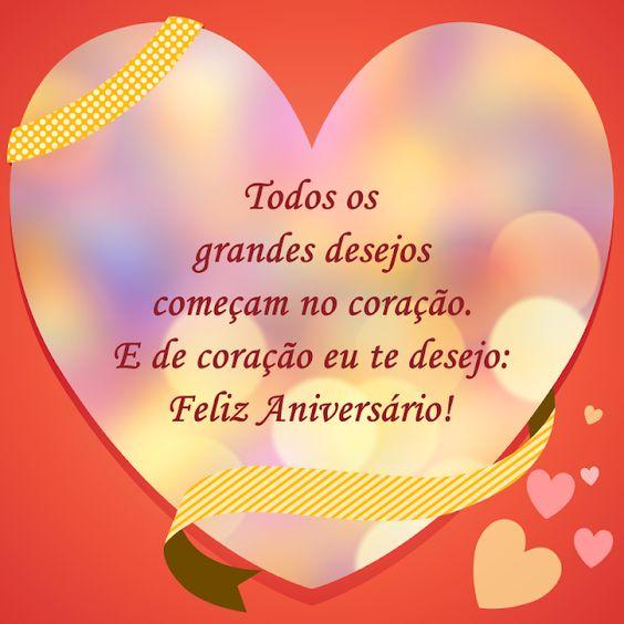 Desejos do coração Um feliz aniversário parabéns.