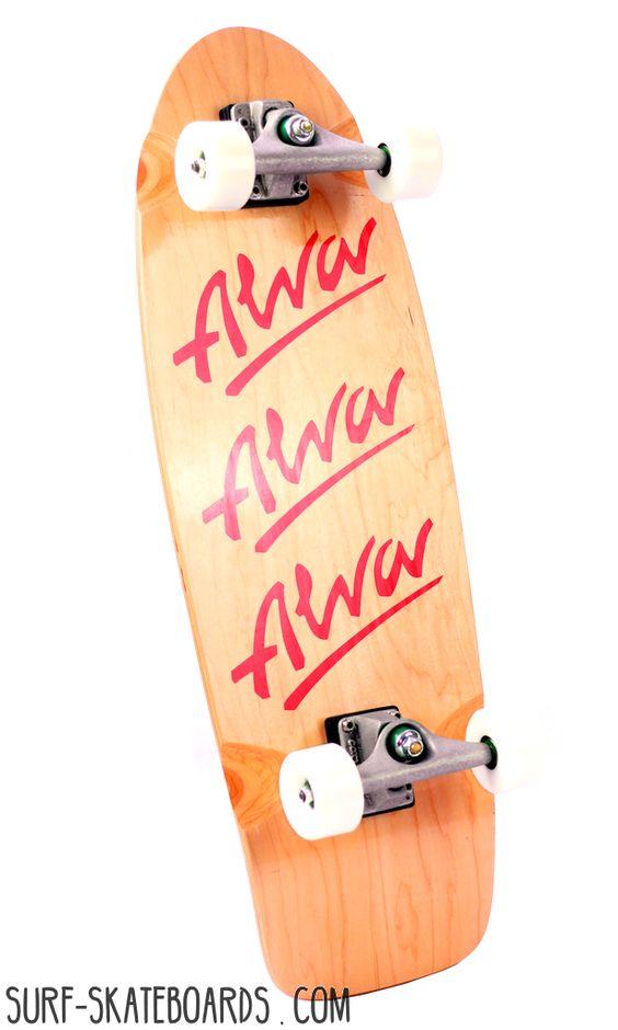surfskate - alva tri logo - carver cx 4 - cruiser skateboard
