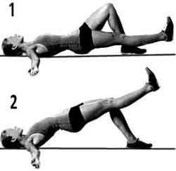 exercice d'exension dorsale sur une jambe pour de belles fesses musclées