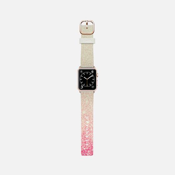 Pink Vintage Faux Glitter Gradient -