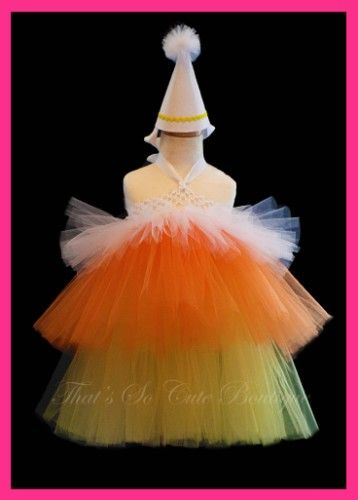 Thinking about making Kyleigh a candy corn costume for Halloween.