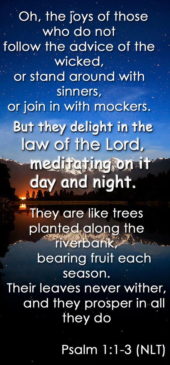 Psalm 1:1-3 (NLT)