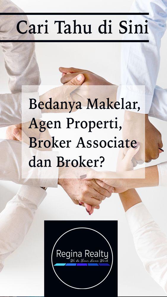 Cari Tahu Di Sini Bedanya Makelar Agen Properti Broker Associate Dan Broker Tahu Cari Pemasaran