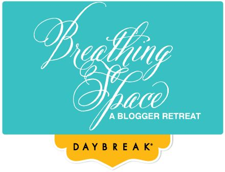 Join us for the #breathingspace blogger retreat May 4-5 http://breathingspaceretreat.com/