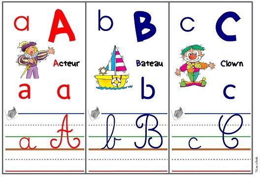 Frise Alphabet Cursive Dumont Alphabet Francais A Imprimer Affichage Alphabet Alphabet A Imprimer