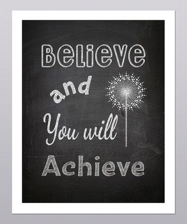 Take a look at this 'Believe and You Will Achieve' Dandelion Print by Posie & Co. on #zulily today!: