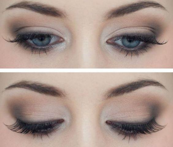 Idea raffinata trucco occhi azzurri