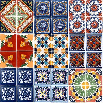 Love, love the look of Mexican tile