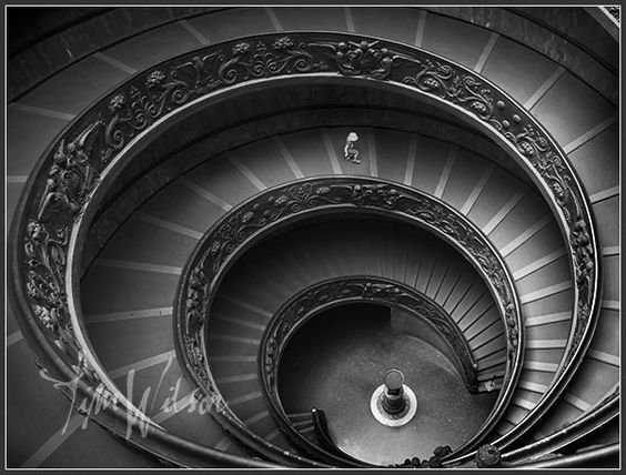 Vatican museum stairs by my Tim